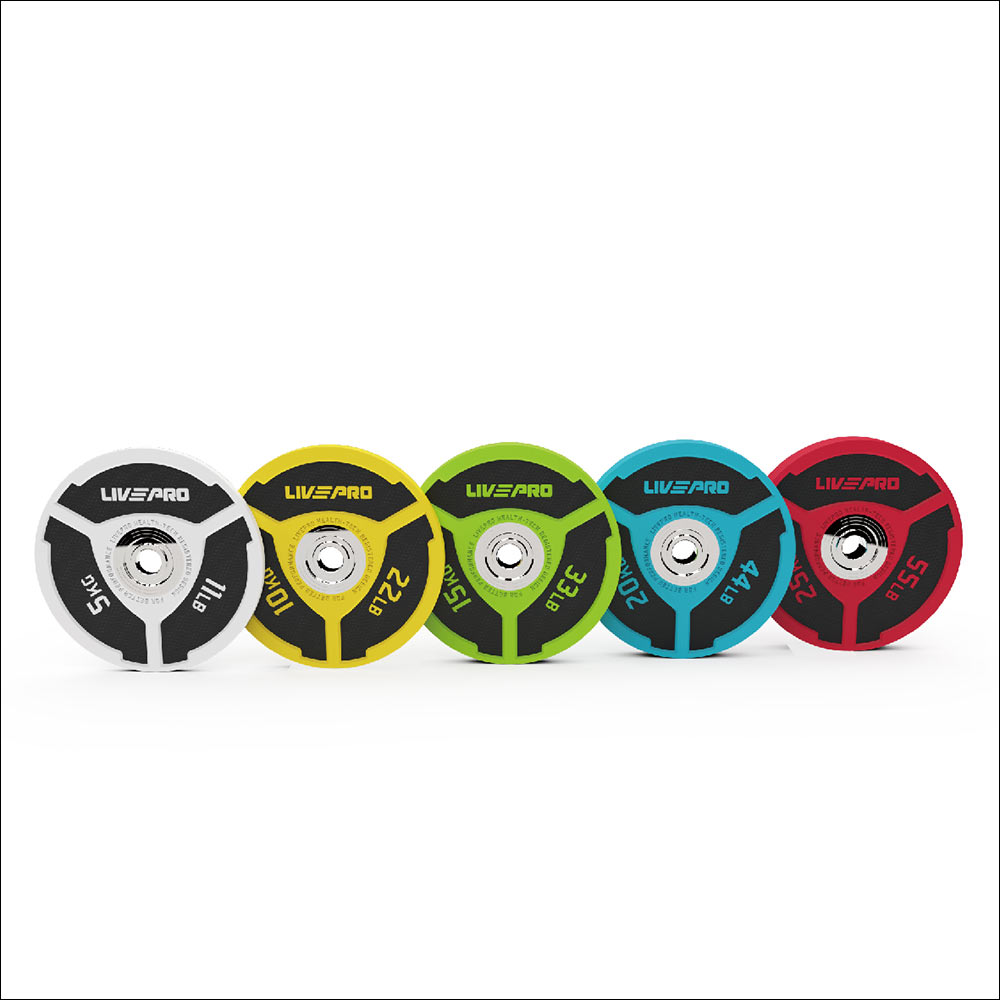 URETHANE DOUBLE COLORED ELITE BUMPER PLATE